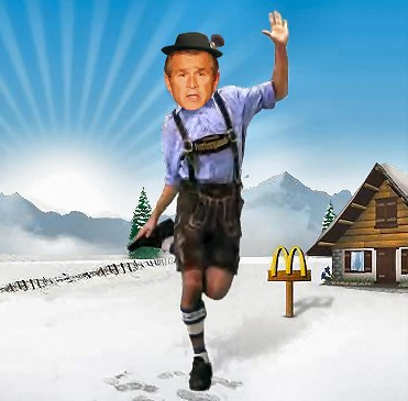 Authentic picture of George Bush in Lederhosen