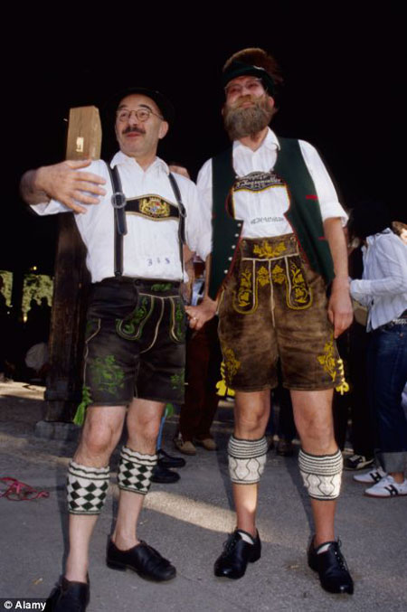 lederhosen men
