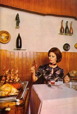 "Posing with meat products - ""And this, what is this? Get it away from Sophia"""