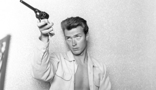 Before his spaghetti western days... Clint Eastwood